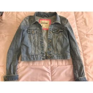 Abercrombie Kids crop jean jacket